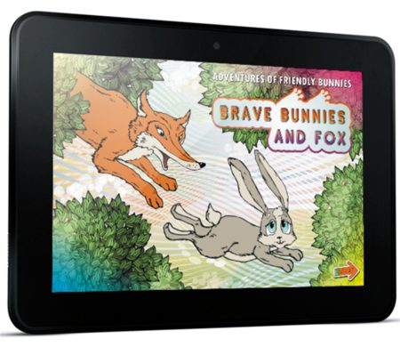 Ebook or children. Adventures friendly bunnies Brave bunnies and fox