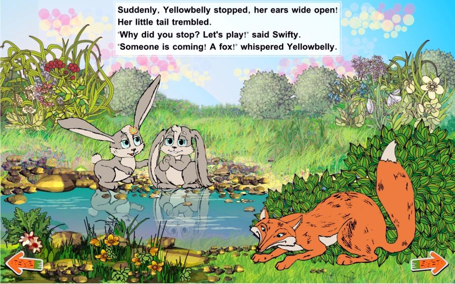 Adventures friendly bunnies Brave bunnies and fox