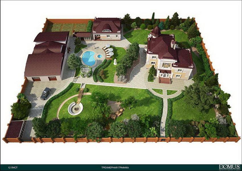Ландшафтный дизайн дачного участка готовый проект